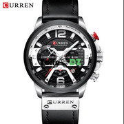 CURREN 8329 Montre Original En Cuir WATER RESISTE